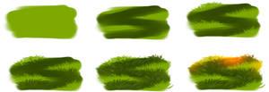 How i draw grass