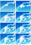 How i draw clouds