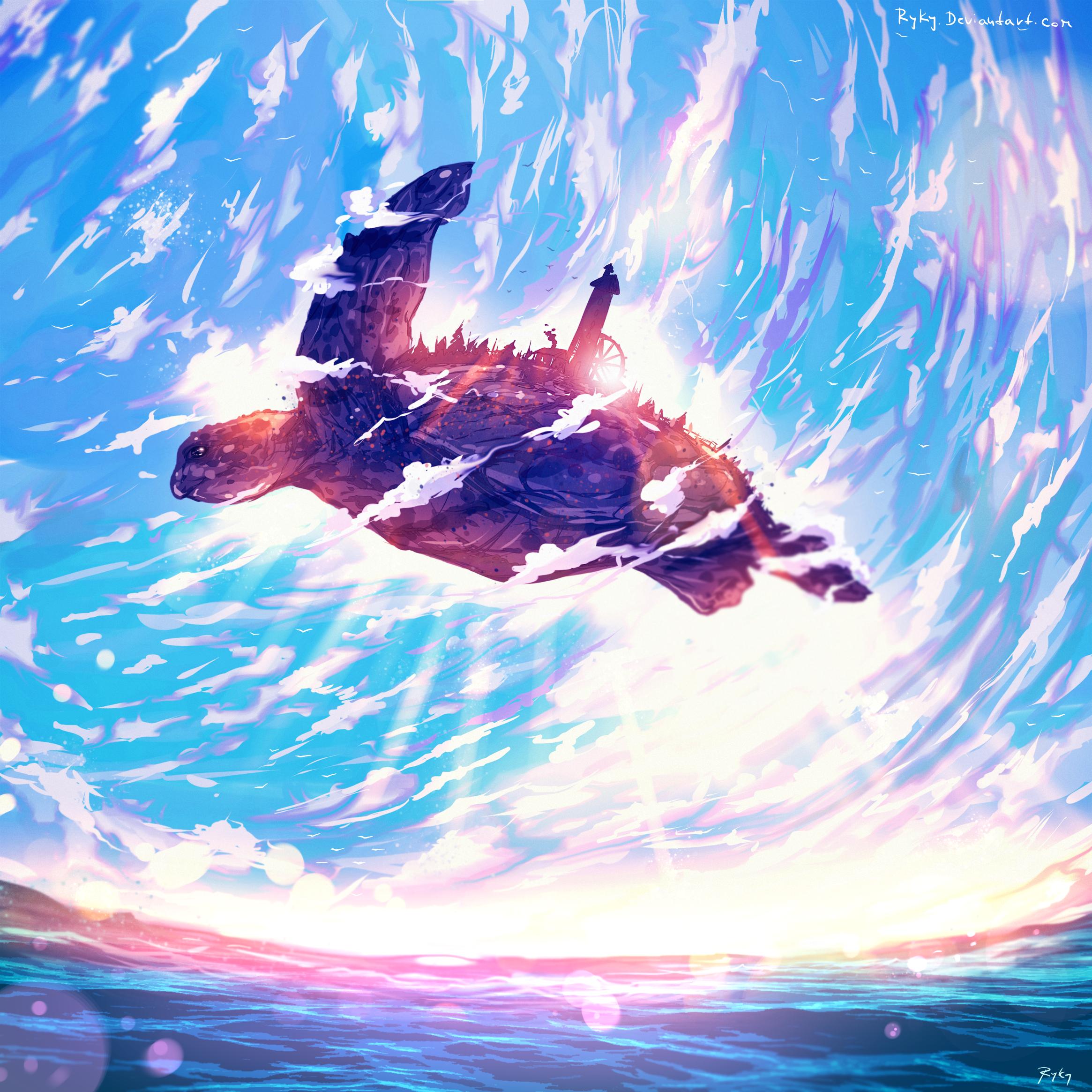 Flying Village by ryky