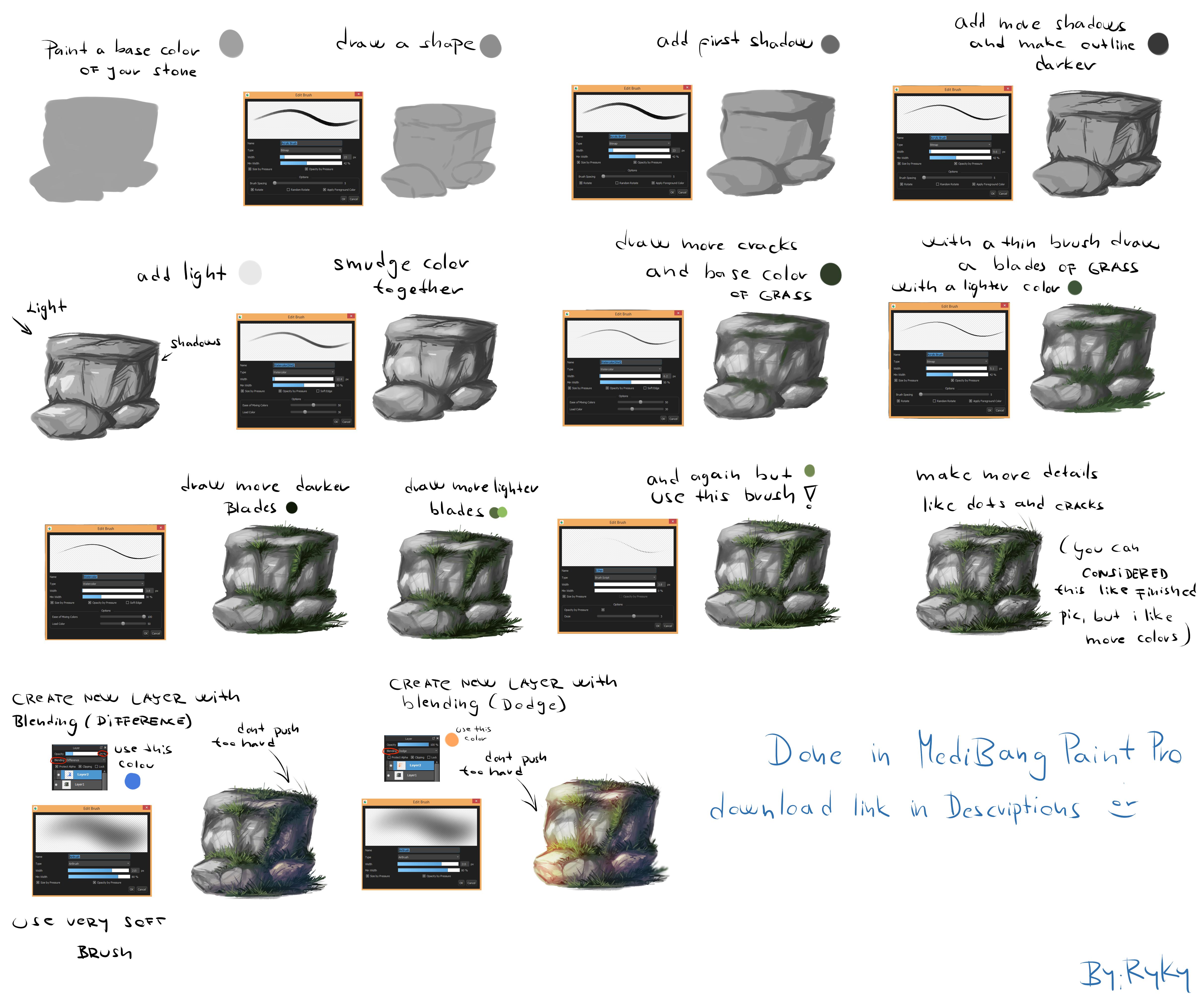 EASY Scenery tutorial by ryky on DeviantArt