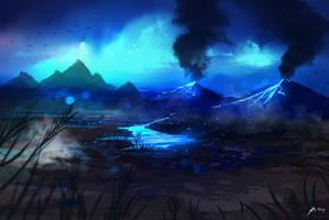 Blue lava by ryky