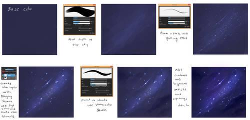 EASY - Night Sky  tutorial