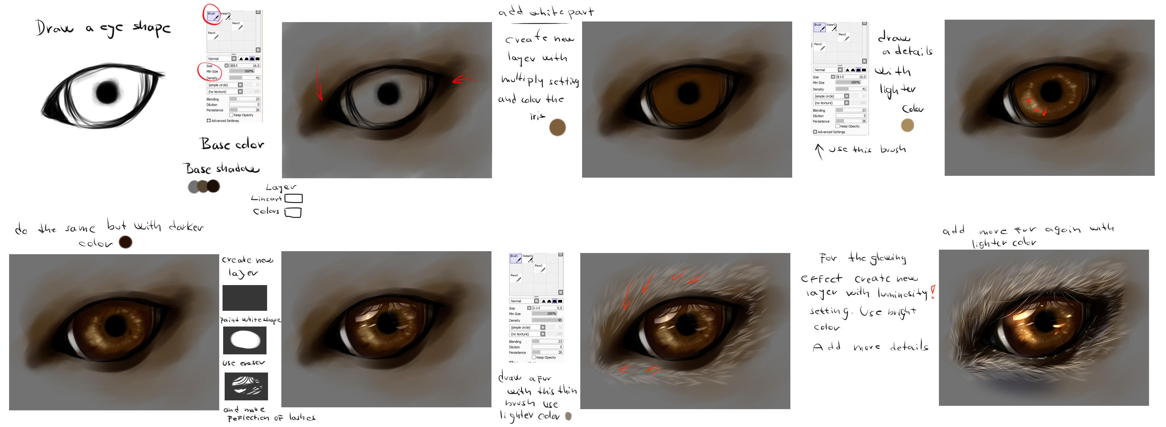 Easy  Wolf Eye Tutorial By Ryky