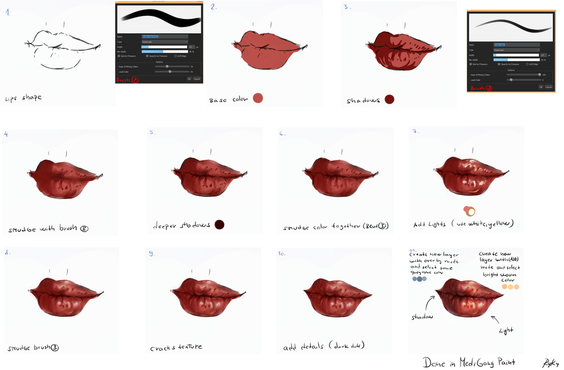 Easy lips tutorial by ryky on deviantart for Paint pros