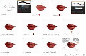 EASY - Lips tutorial