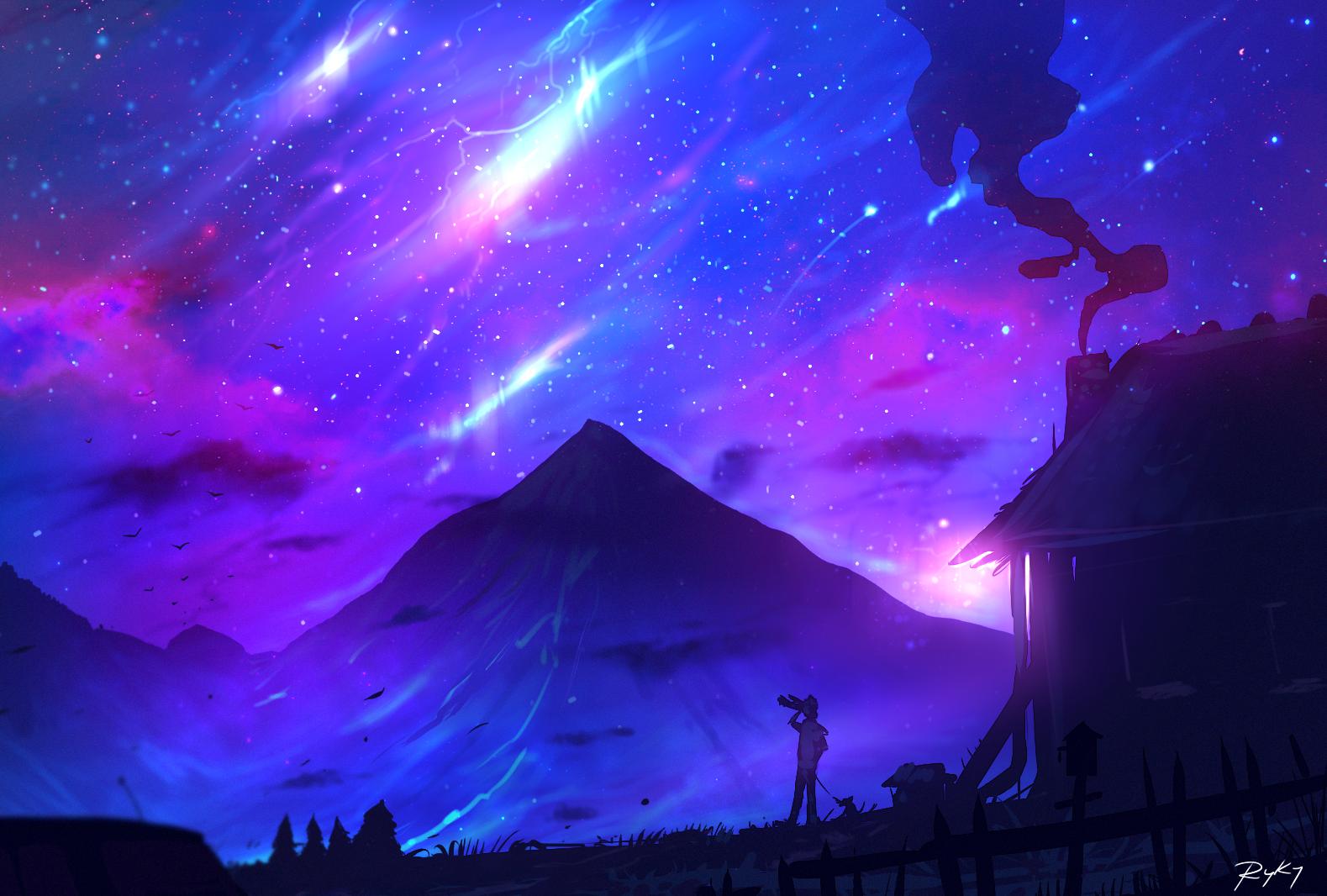 blue purple sky desktop wallpaper - photo #27