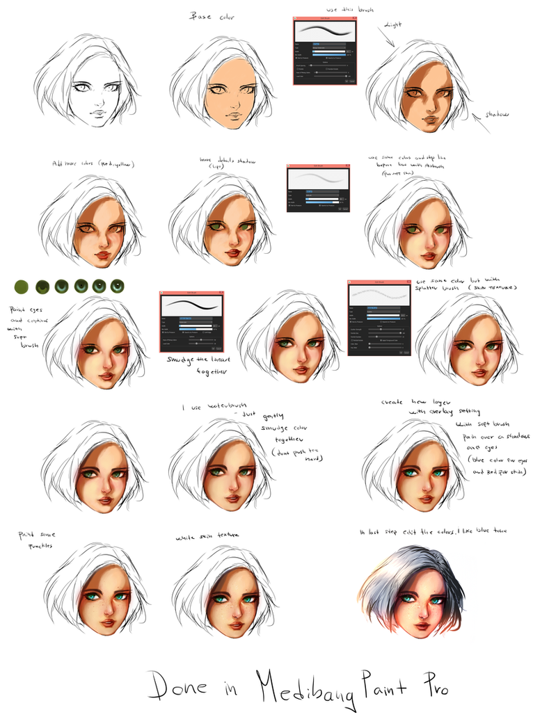 FACE - Coloring tutorial by ryky on DeviantArt