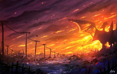 Dawn of Dragon by ryky