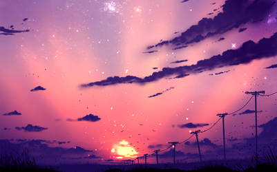 Purple Sky ( auction - CLOSED ) by ryky