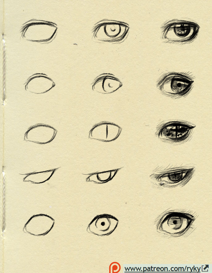How To Draw Cat Eyes Step By Step