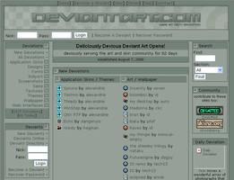Deviantart in 2000 - 62 days old Deviantart