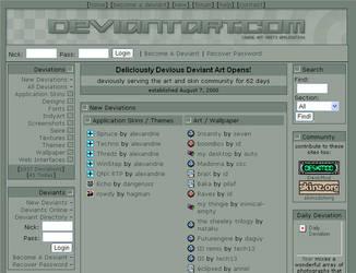 Deviantart in 2000 - 62 days old Deviantart by ryky