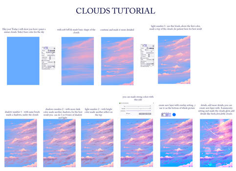 Easy way to paint a clouds