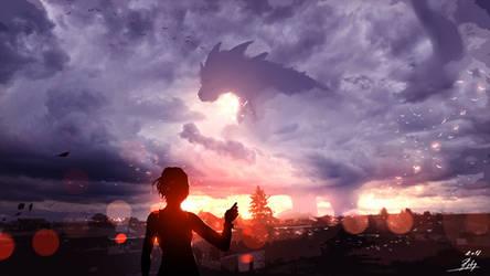 Godzilla by ryky
