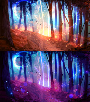 In the forest ( SCENERY AUCTION CLOSED)