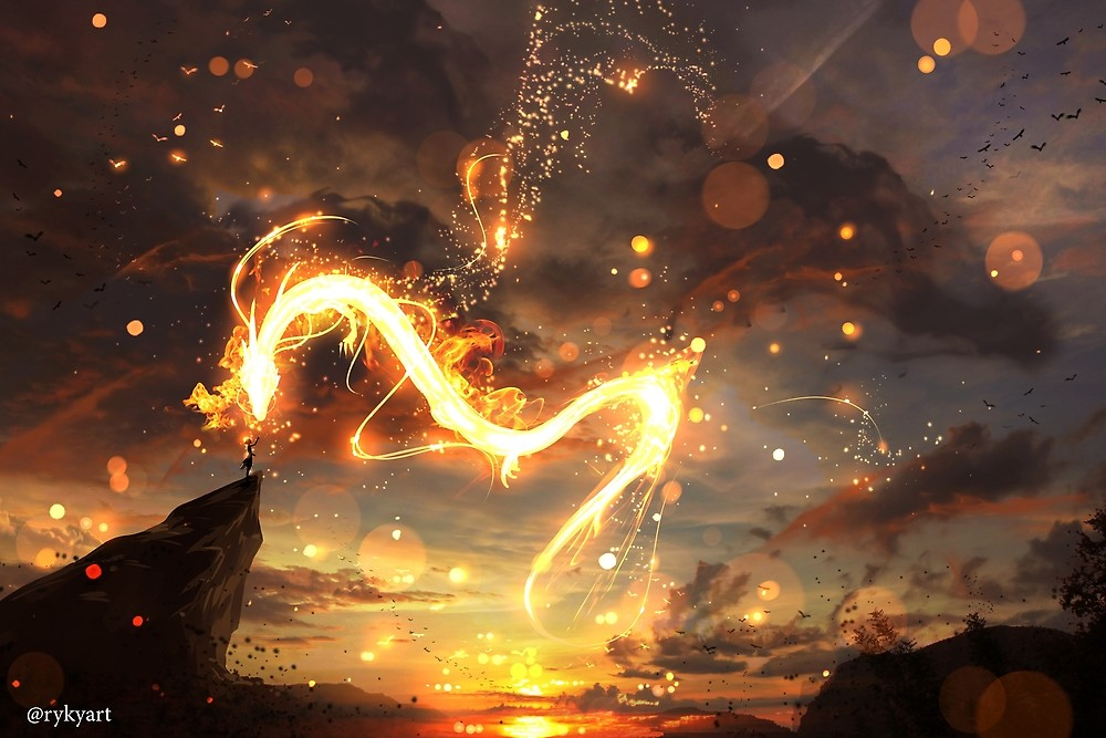 Fire Dragon by ryky