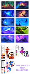 SCENERIES / CHARACTERS - SALE!! ALL FOR 25$ by ryky