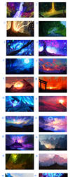 LARGE SCENERIES  - SALE!! ALL FOR 25$ by ryky