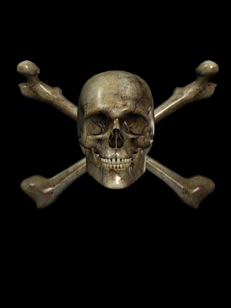 Skull N Crossbones by SB-Photography-Stock
