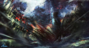 Kaiju Battle - Digital painting time lapse
