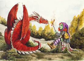 The Dragon baby sitter