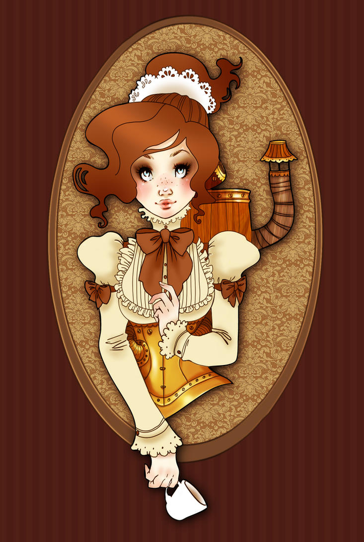 Steampunk robot maid by OlayaValle