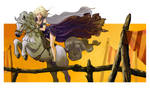 Daenerys riding silver