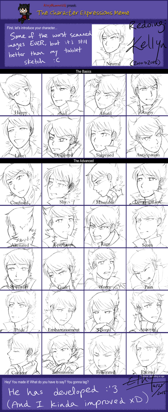 The Character Expressions Meme: Redux by Aetherya