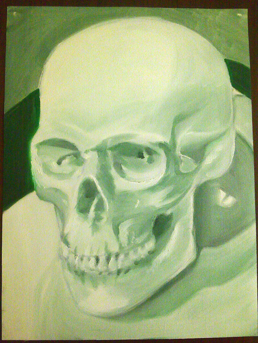 Green Skull by Aetherya