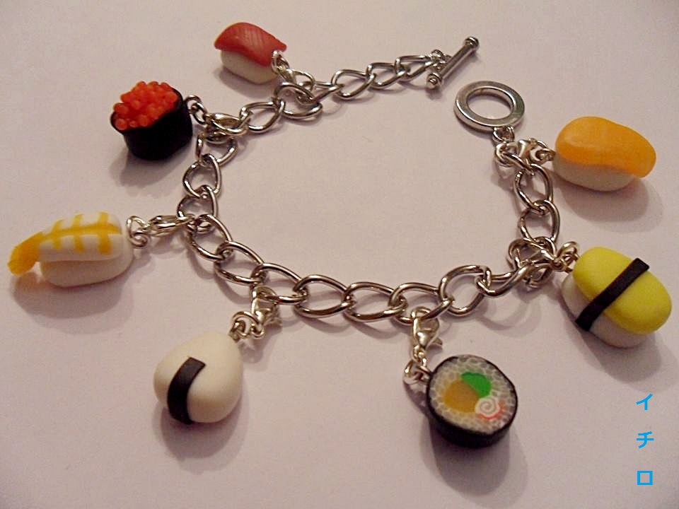 Sushi Charm Bracelet by LeIchirokun