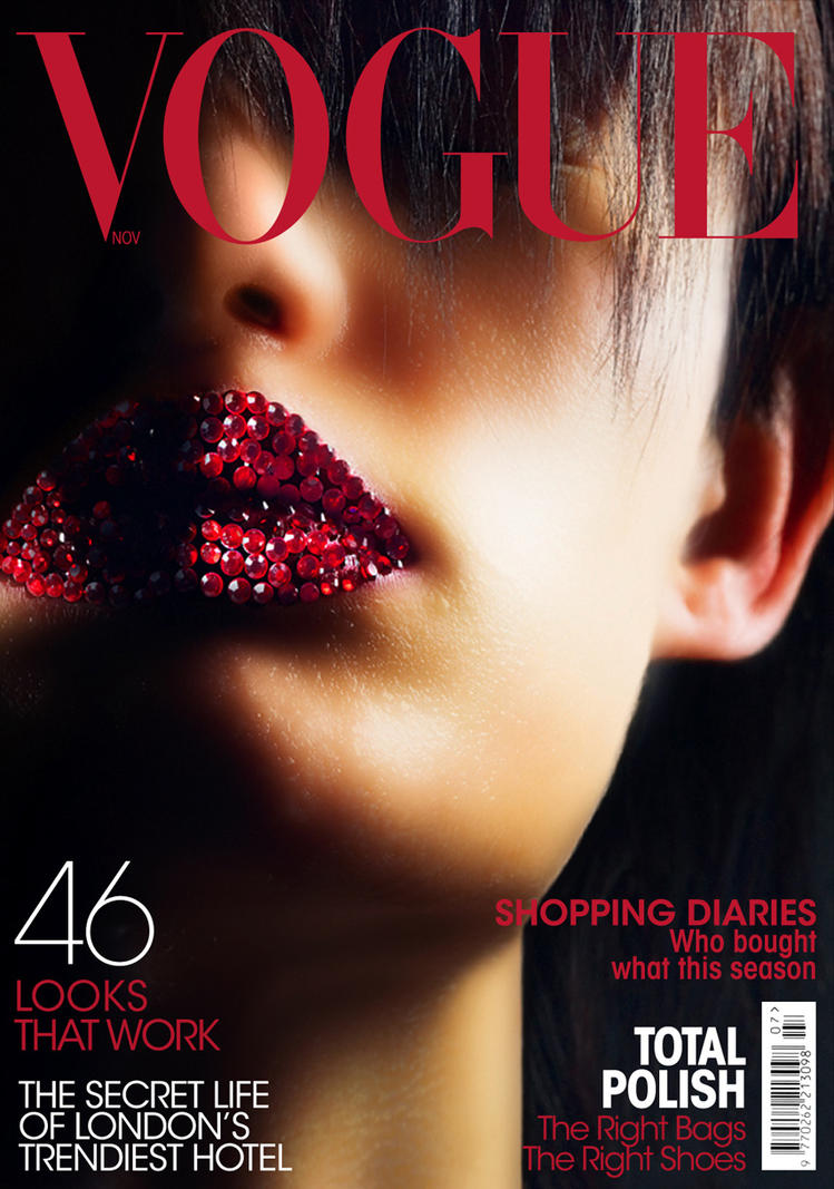 vogue magazine cover by vowdy on deviantart