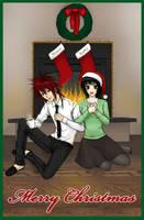 Christmas card Toshio x Yumi by pink-KILLER