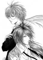 Mitsuzuka and Toshio by pink-KILLER