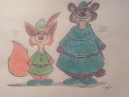 Robin Hood  and Little John by JesSEGA