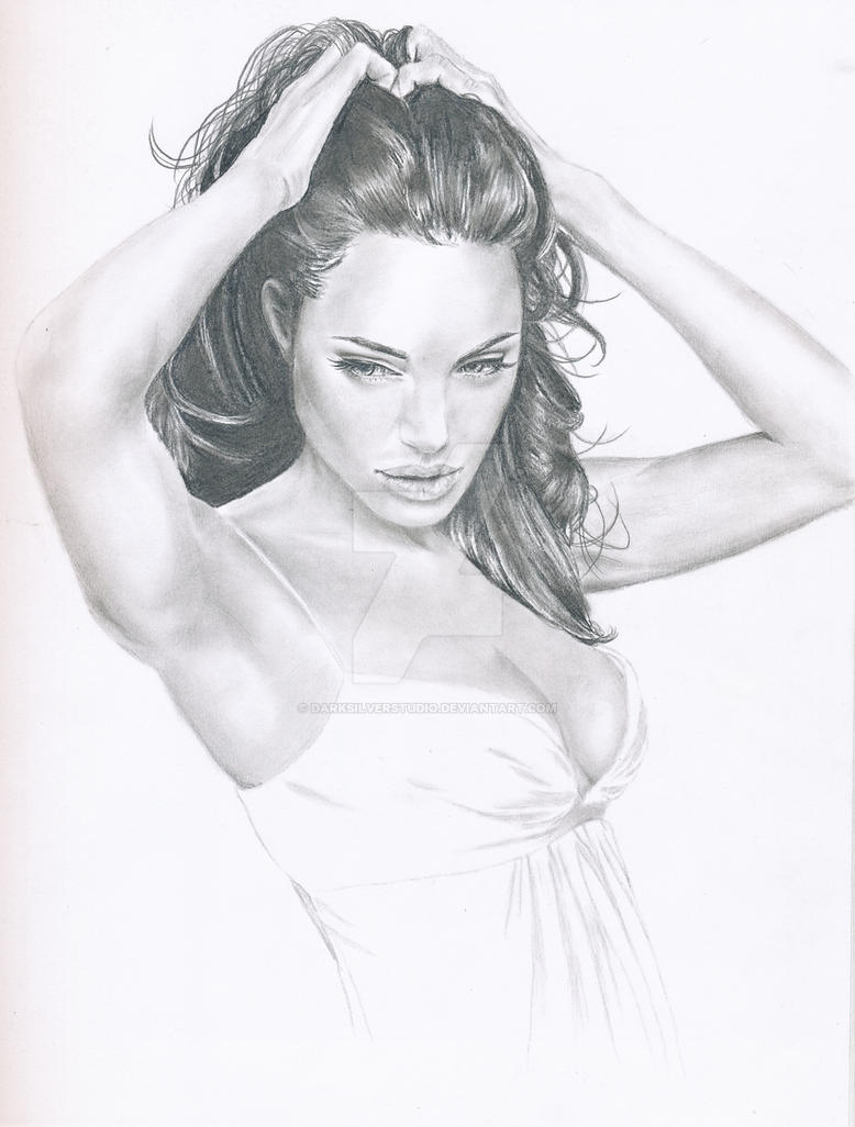 Angelina Jolie by DarkSilverStudio