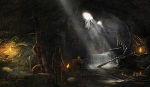 Lara in the Dark by PapayouFR