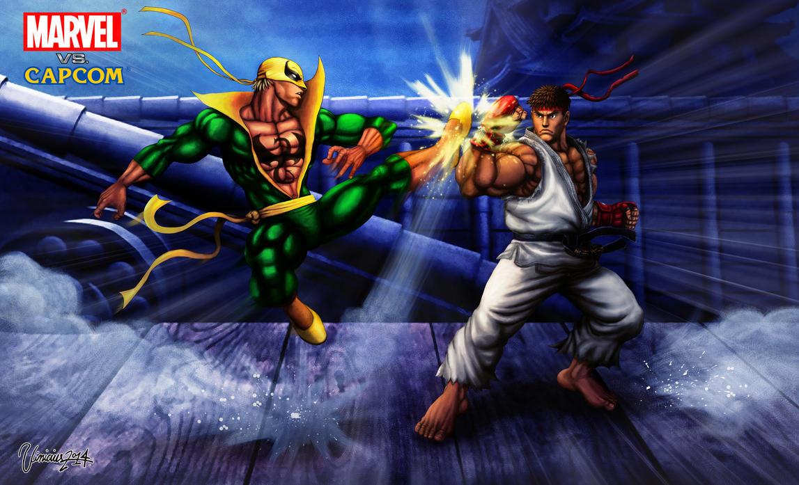 Ryu VS Iron Fist by viniciusmt2007