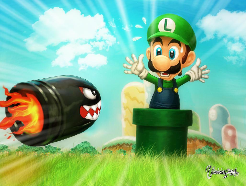 Luigi !! Super Mario Bros  Brazilian Tribute by viniciusmt2007