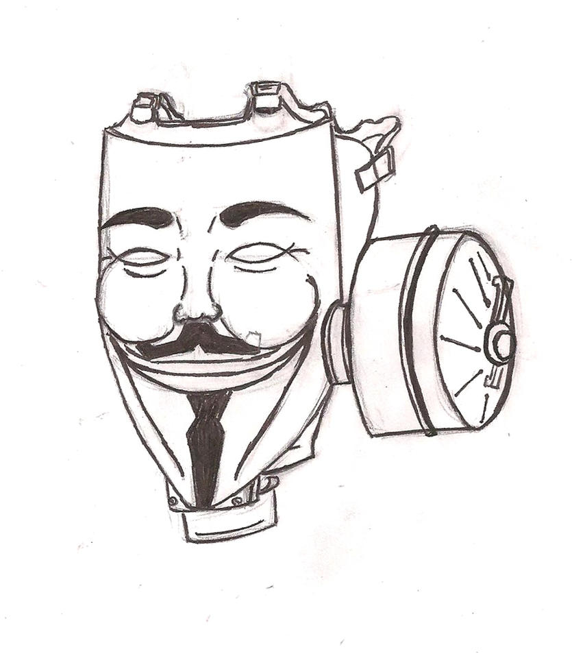 Gas Masks Drawing Gas Mask Drawing Vendetta