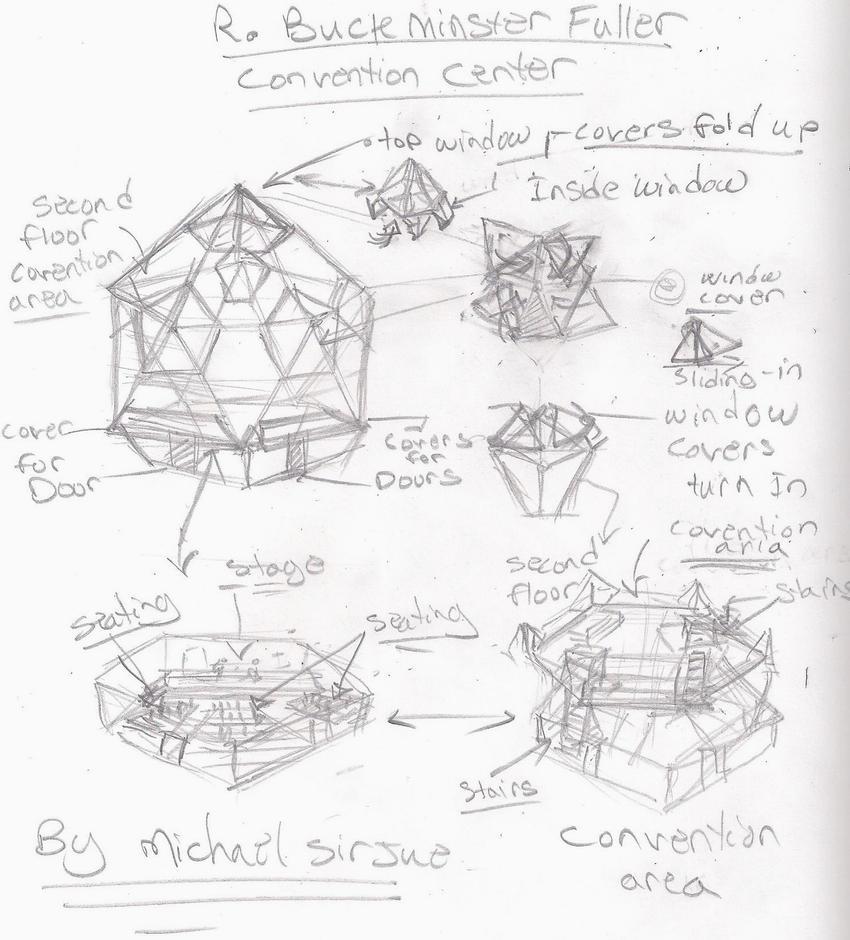 Buck Minster fuller Convention Center by chaosangel424