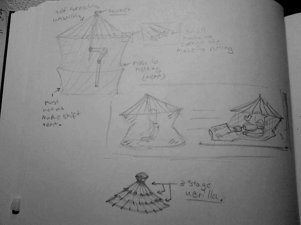 mosquito net tent option addition to umbrella. by chaosangel424