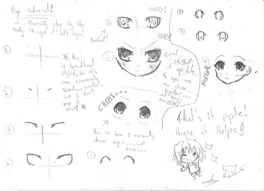 how to draw female eyes anime
