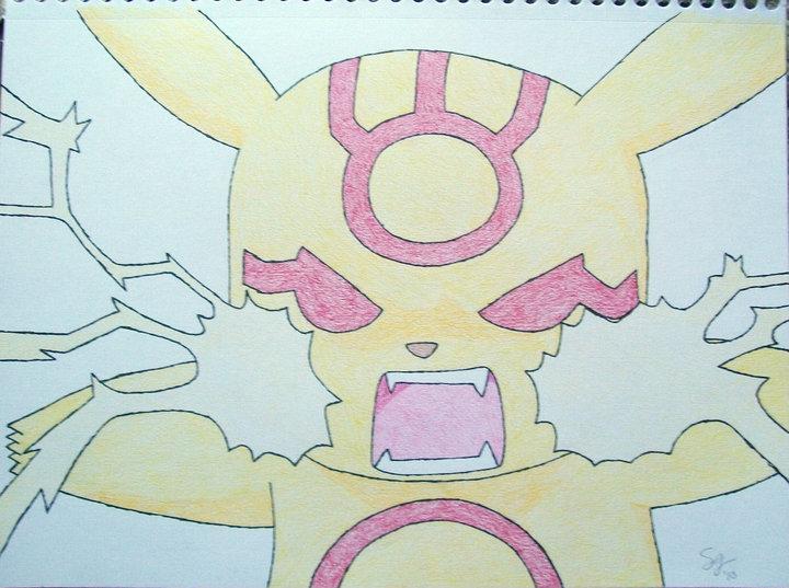 Evil Pikachu And Ash Evil Pikachu by XxAnim...