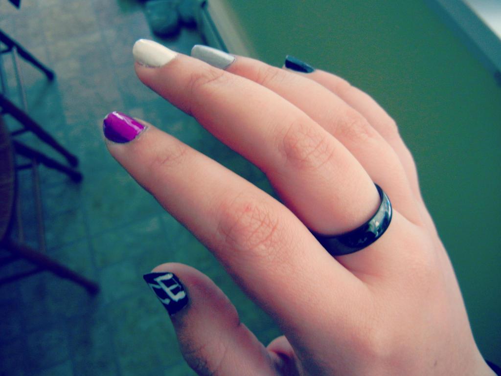 Demisexual Black Ring