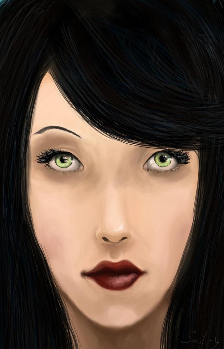Green eyed Lady by Sal-y