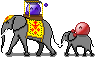 emotes riding elephants :3 by MenInASuitcase