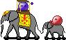 emotes riding elephants :3 by MenInASuitcase