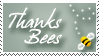 Thanks Bees - Stamp by ClemiKinkajou