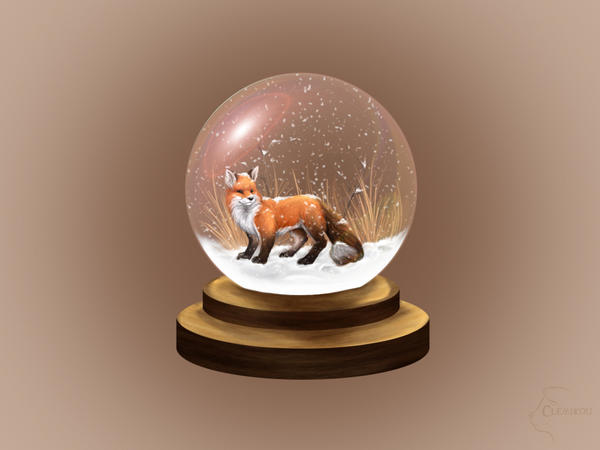 fox snow globe coloring pages - photo#33