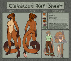 Clemi's Official Ref Sheet by ClemiKinkajou